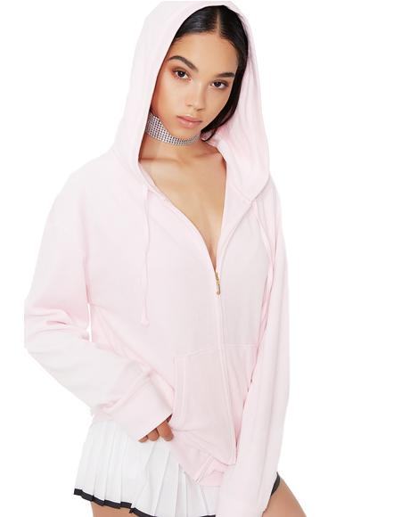 Blush Beachwood Velour Jacket