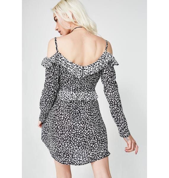 Wanting More Cold Shoulder Dress
