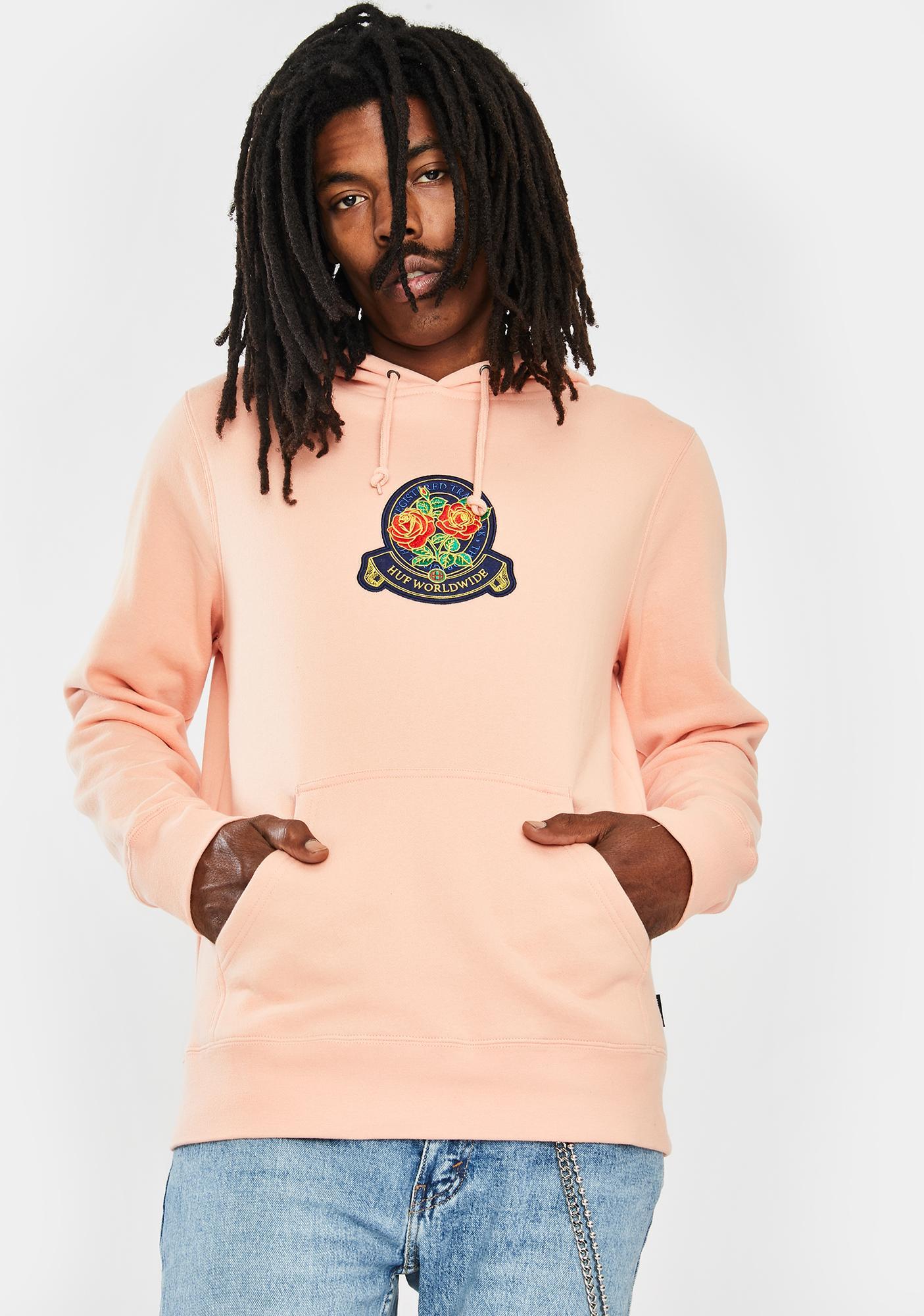 HUF Tenderloin Rose Crest Graphic Hoodie