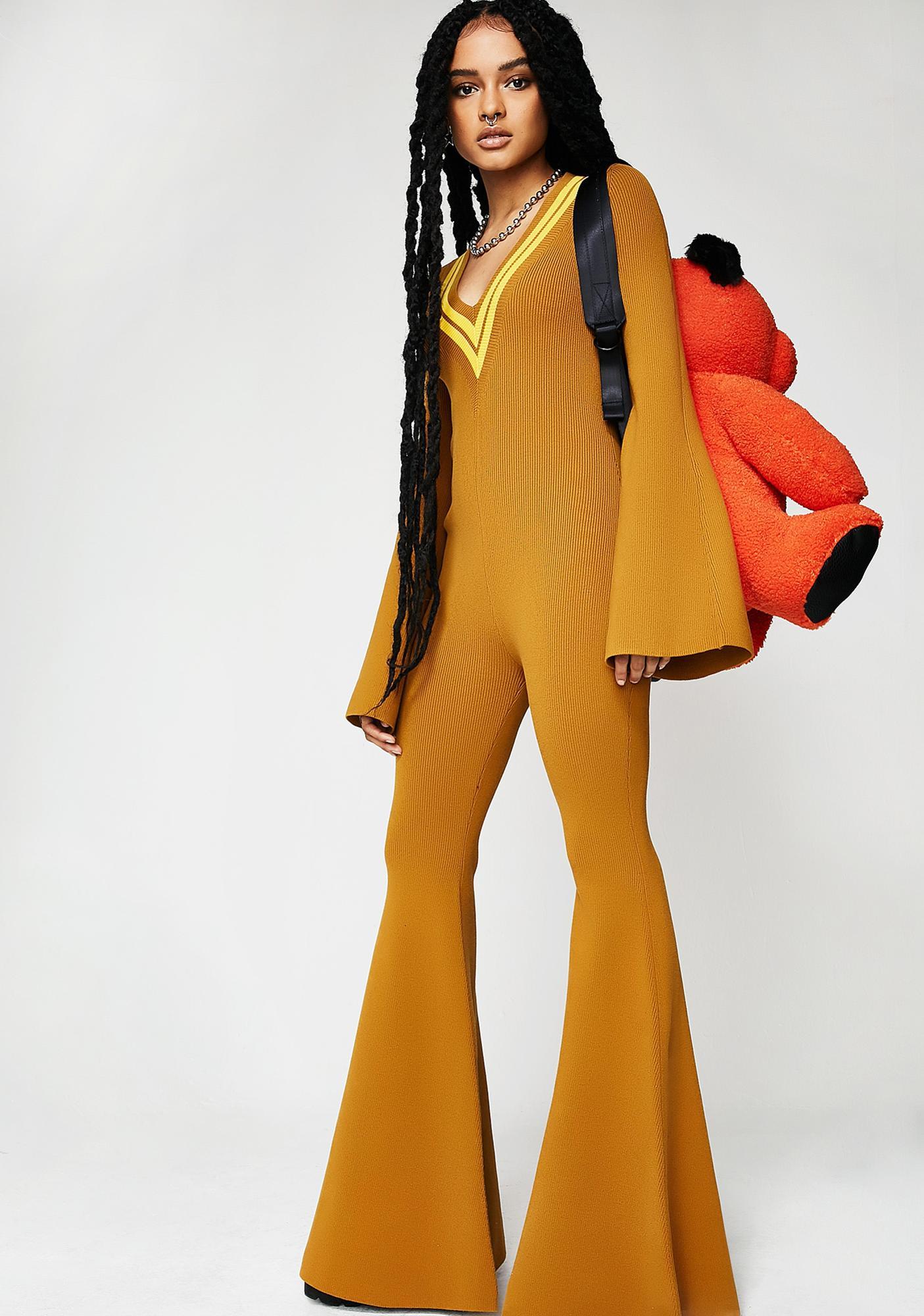 438517e0868 PUMA FENTY PUMA By Rihanna Deep V Sweater Knit One Piece