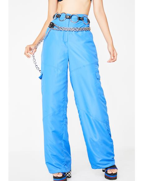 Cobalt Treat Ya Self Wide Leg Pants