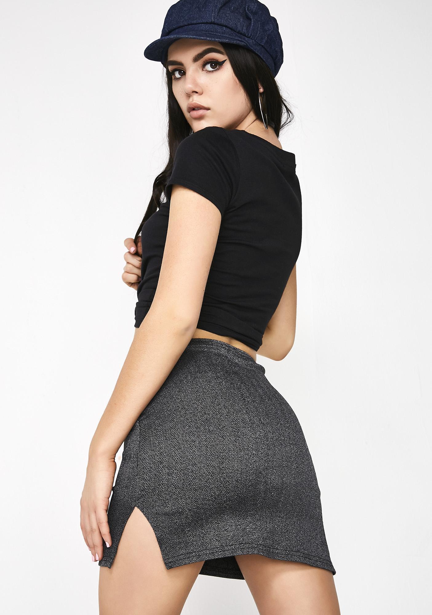 American Deadstock X Internet Girl DM Herringbone Mini Skirt