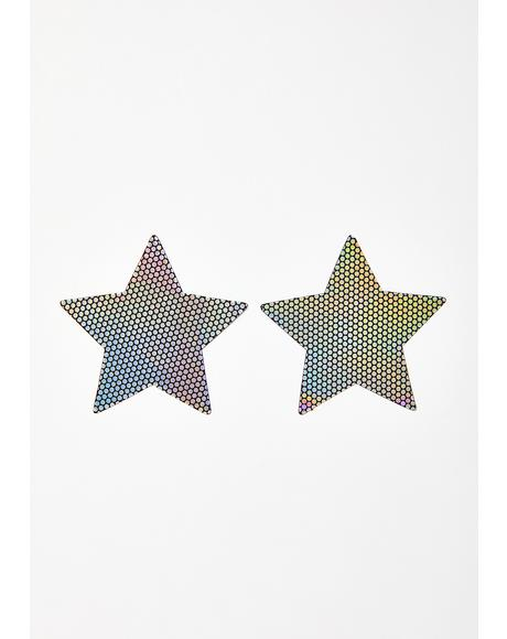 Liquid Party Holographic Star Pasties