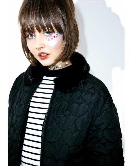Black Heart Bomber Jacket