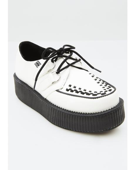 White Leather Viva Mondo Creepers