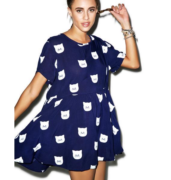 Lazy Oaf Kitty Litter Dress
