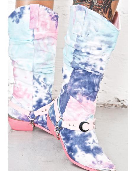 Tie-Dye Deathproof Boots