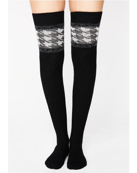 Prepped Up Thigh High Socks