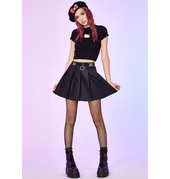 Dolls Kill x Hello Kitty Miss Tempered Pleated Skirt