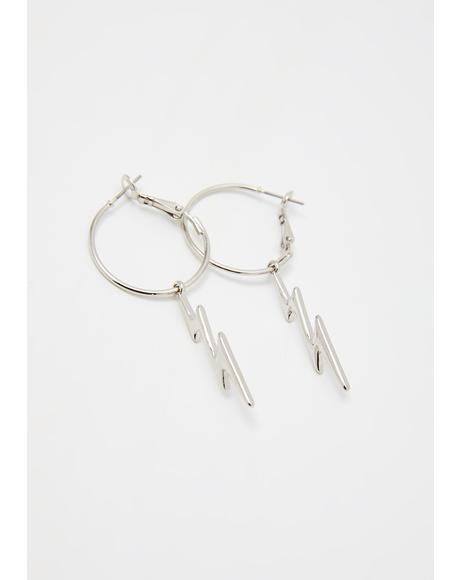 Electro Bae Hoop Earrings