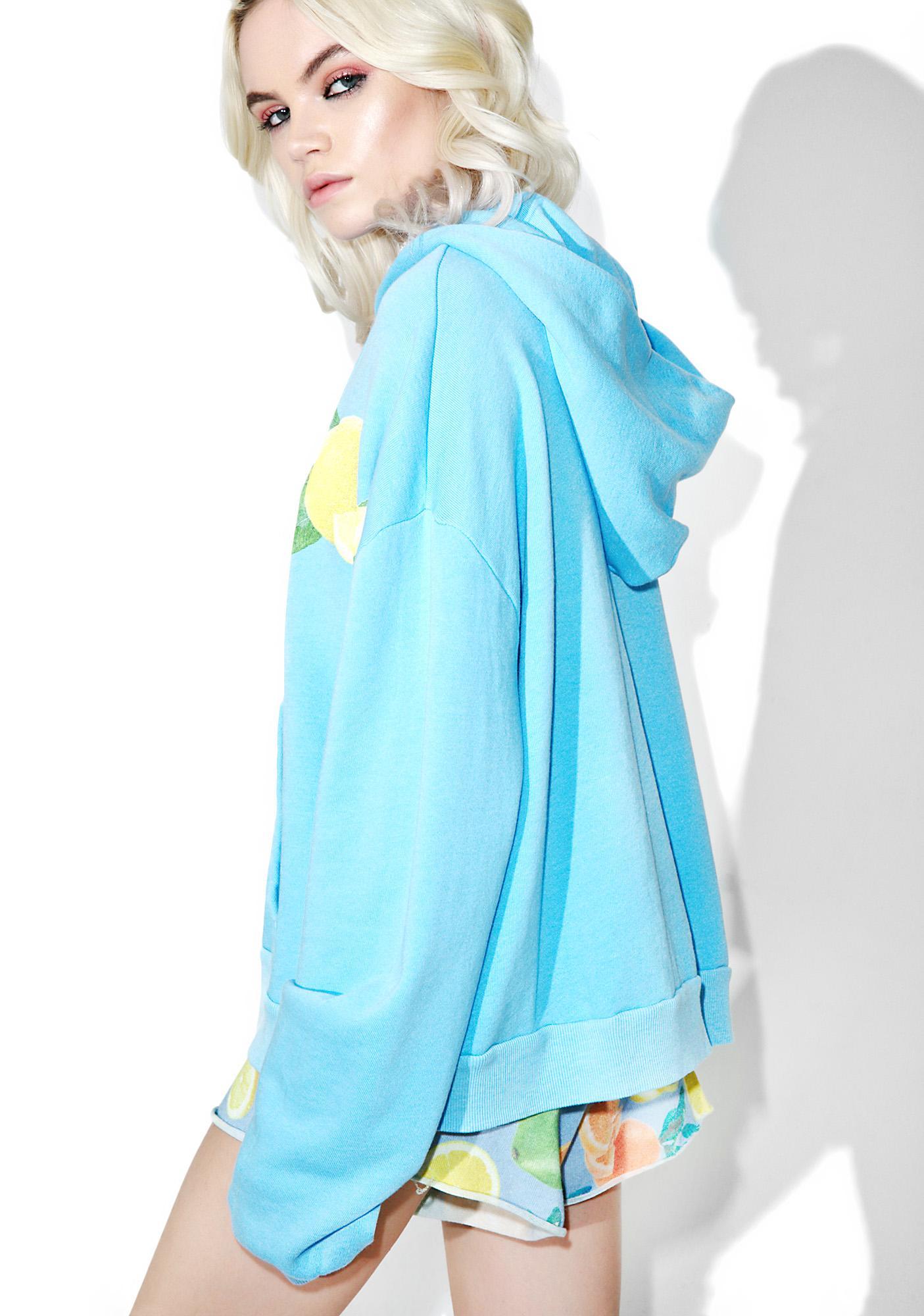 Wildfox Couture Lemonade Marquis Zip Hoodie