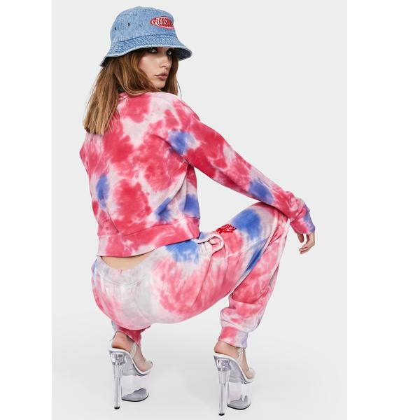 Kappa Pink Authentic Galz Tie Dye Sweatshirt