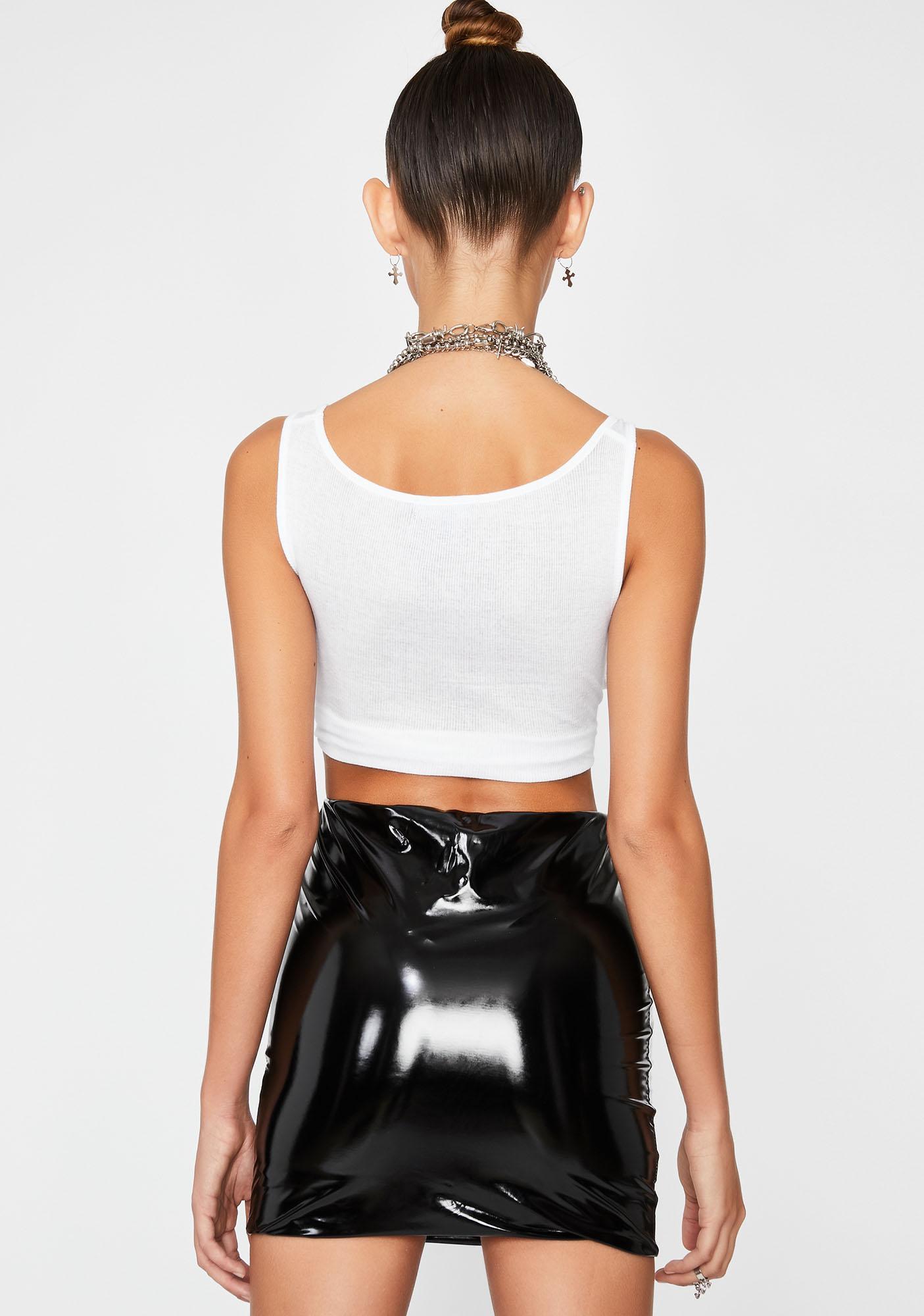 Patent Hellish Mercy Mini Skirt