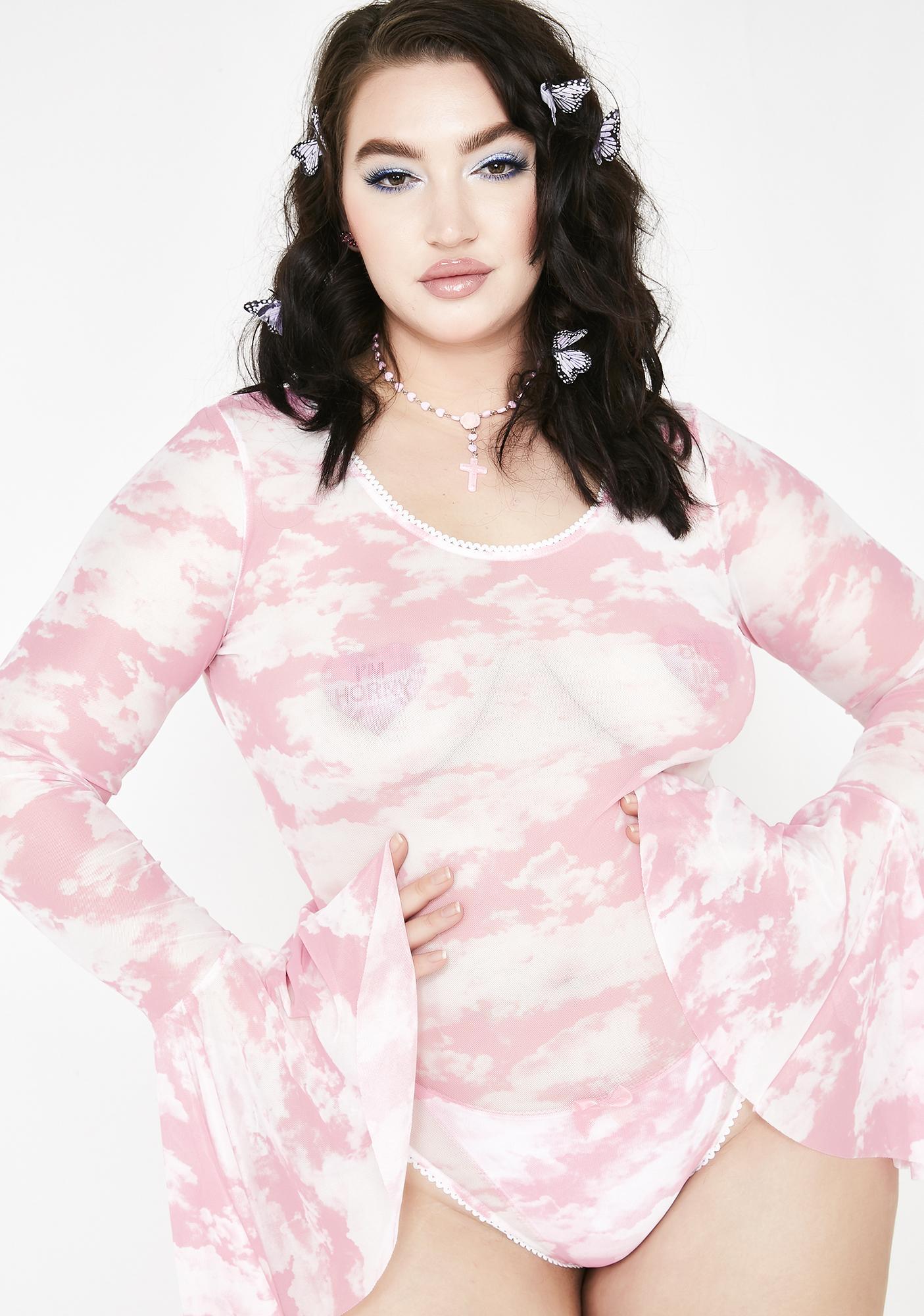 4c9e30be758 Sugar Thrillz Miss Bliss Vision Sheer Bodysuit