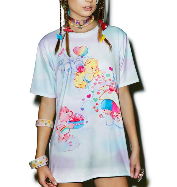 Japan L.A. Little Twin Stars X Care Bears Cloudy Dream Top