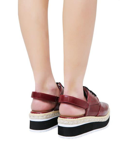 Movin' Up Platform Slingback Oxfords