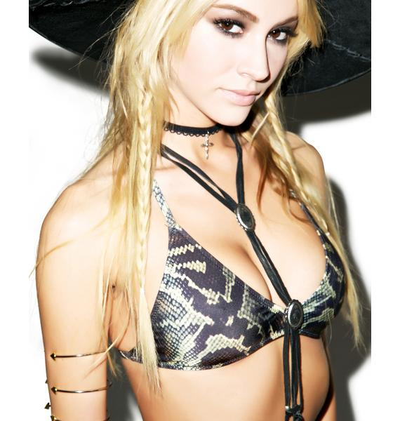 Somedays Lovin Serpents Tongue Retro Bikini Top