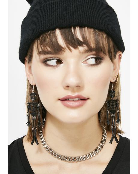 Spooky Bones Drop Earrings