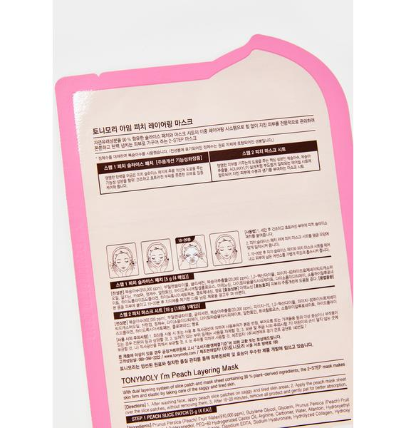 TONYMOLY Peach Layering Sheet Mask