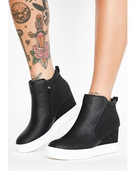 Sporty N' Spicy Wedge Sneaker Boots