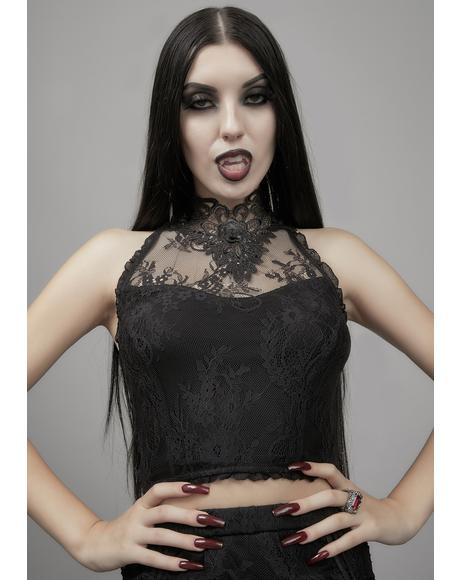 Grave Importance Lace Tank Top