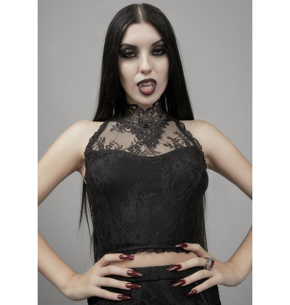 Widow Grave Importance Lace Tank Top