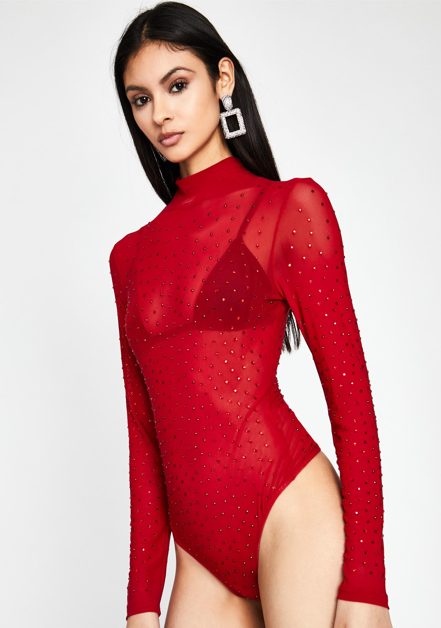 No More Waiting Mesh Bodysuit