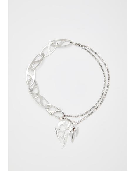 Dreadful Daggers Chain Necklace