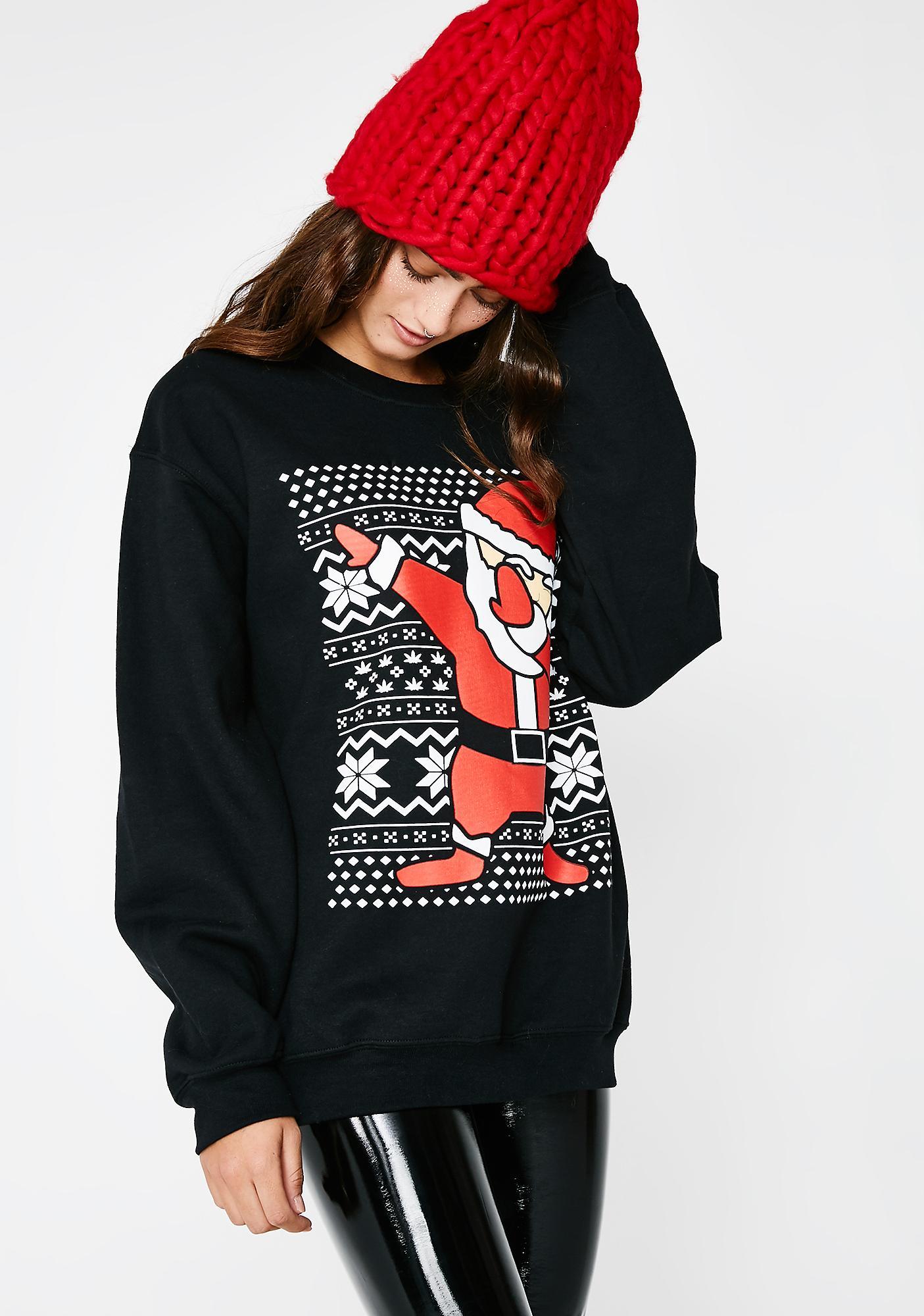 Dabbin' Santa Sweater
