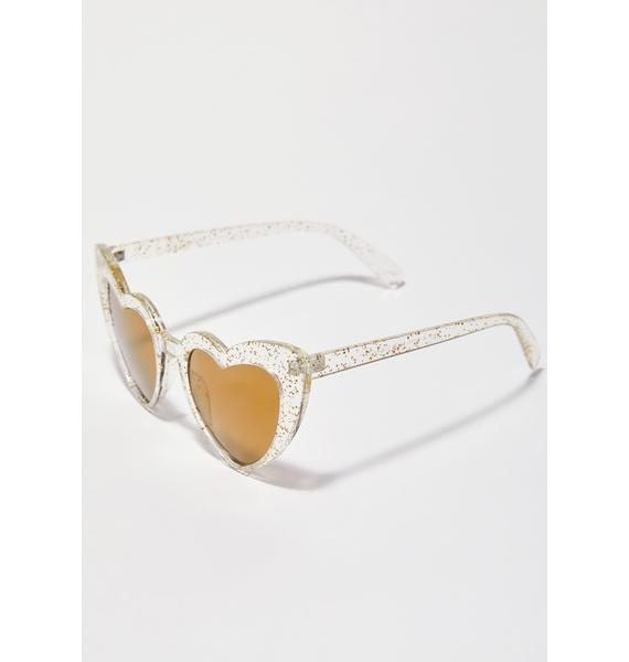 Wholehearted Glitter Sunglasses