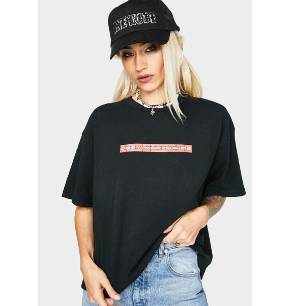 Obey Don't Feed The Animals Graphic Tee
