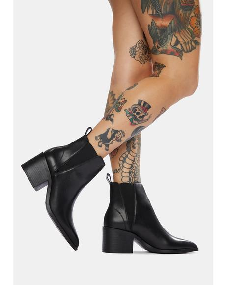 Audience Leather Ankle Booties