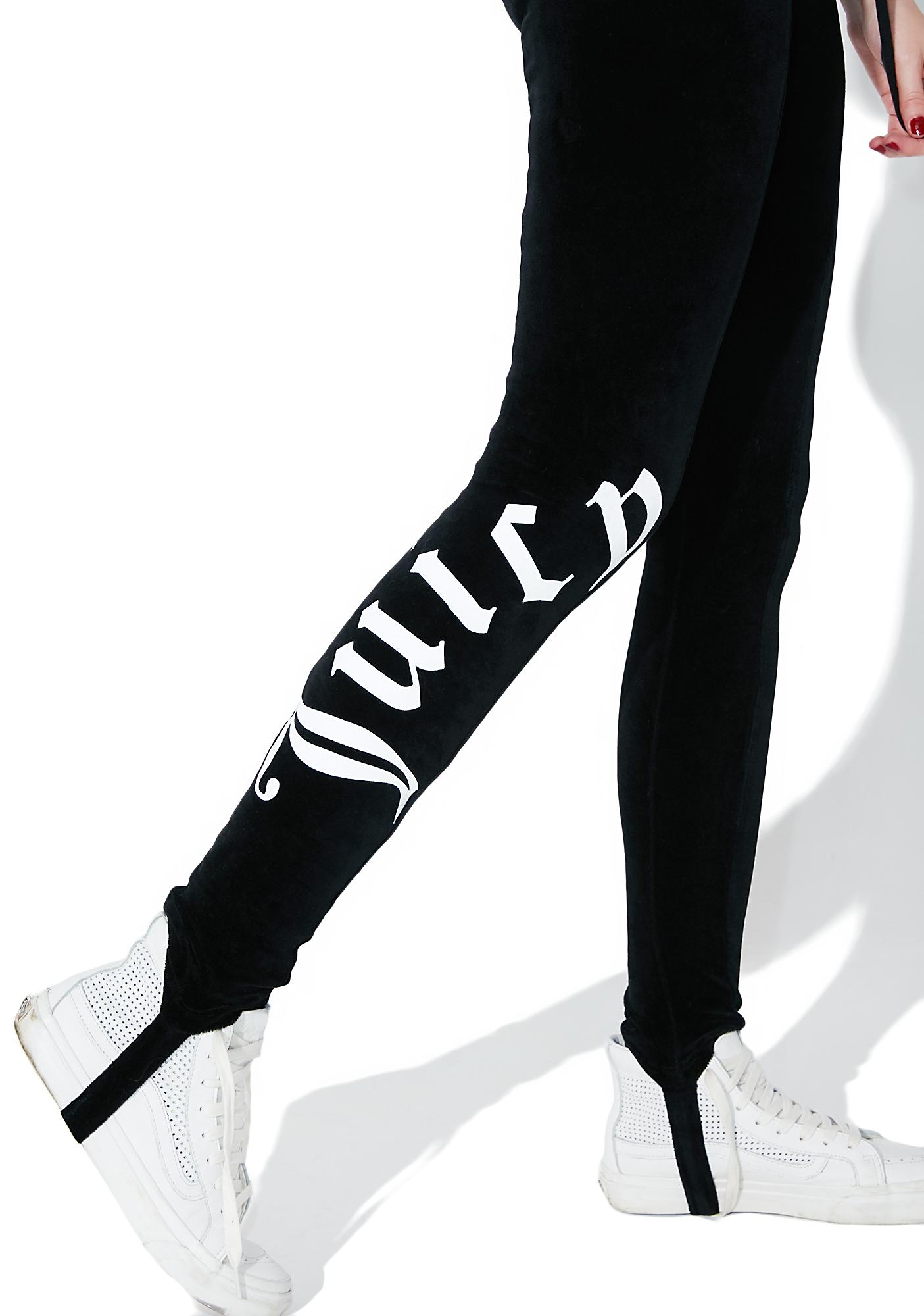 New JUICY COUTURE Velour Stirrup Leggings | Dolls Kill TW36