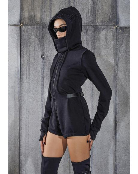 Snare Long Sleeve Hooded Mask Romper