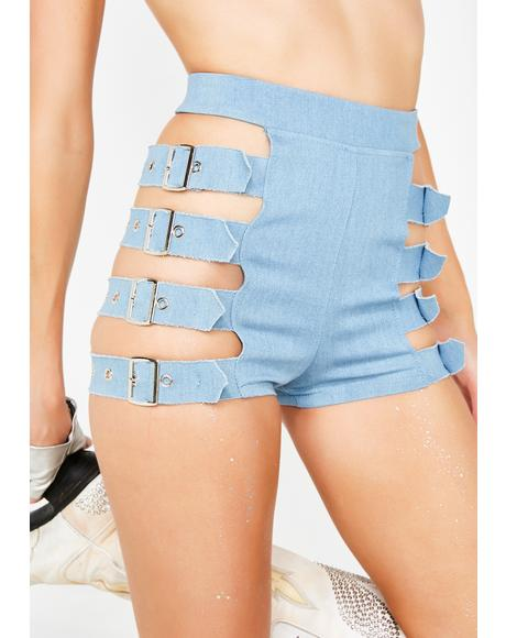 Dayglow Ho Belted Shorts