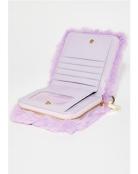 Kawaii Fuzz Crossbody Wallet