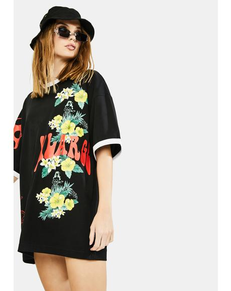 Floral Print Ringer Tee
