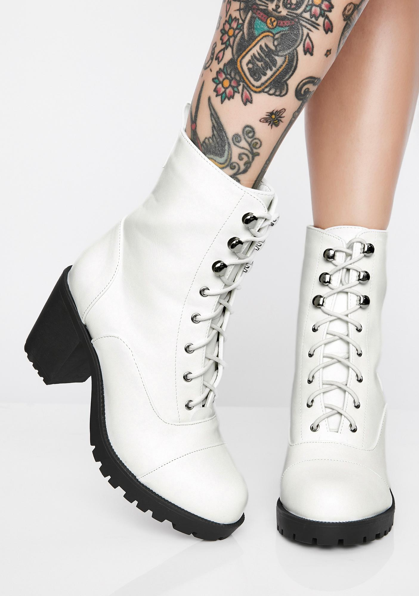 Purely In The Zone Lace-Up Booties