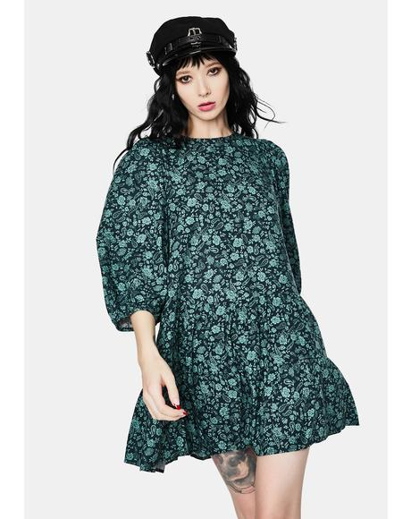 Mareta Mono Paisley Sage Tea Dress