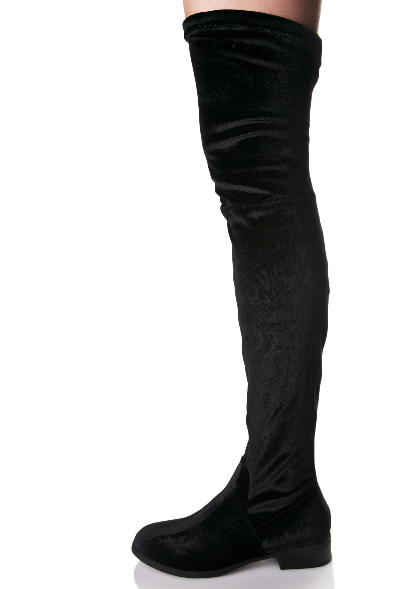 Glamorous Rhiannon Thigh-High Boots