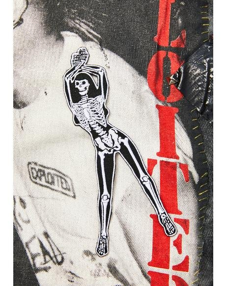 Skelli Girls Arms Up Patch