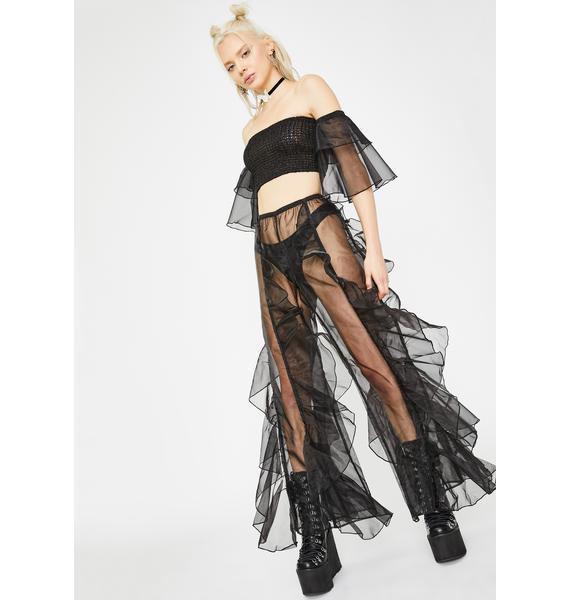 Club Exx Dark Elven Priestess Ruffled Pants