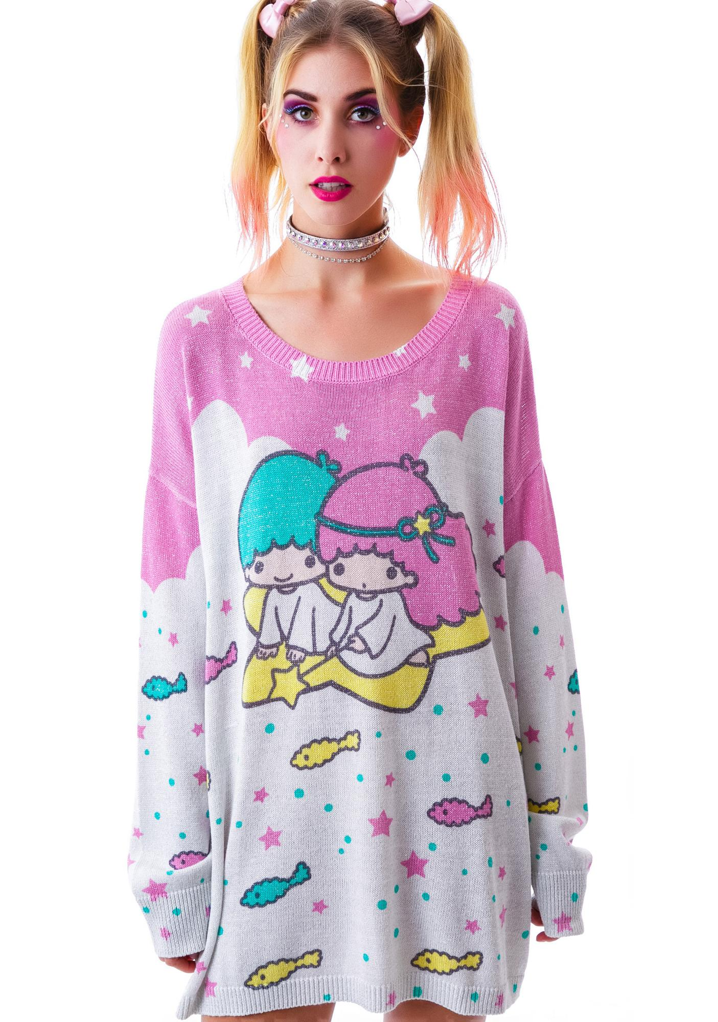 Japan L.A. Little Twin Stars Knit Sweater