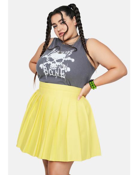 Lemon She's Just Like Candy Pleated Skirt