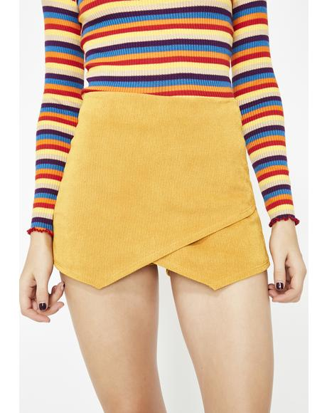 Sweet Treat Corduroy Skort