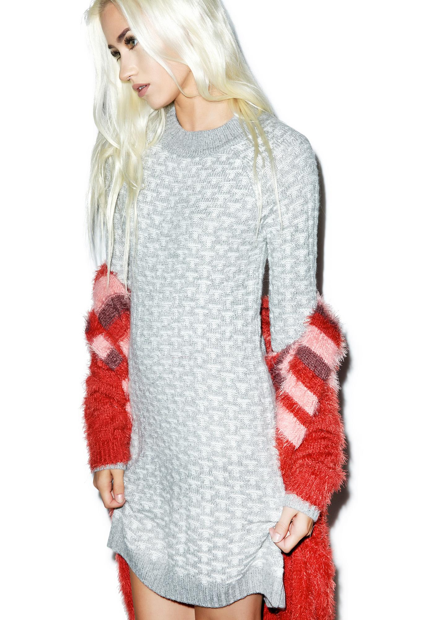 For Love & Lemons Big Sur Sweater Dress