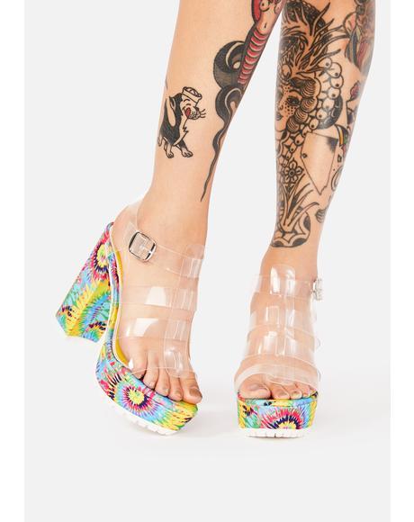 Fusion Swirl Tie Dye Heels