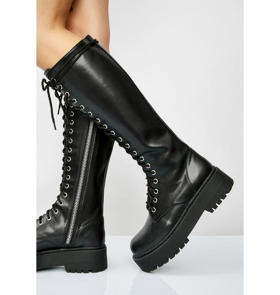 Current Mood Violation Knee High Boots