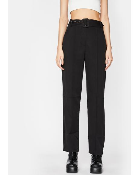 Tragic Posh Beginning Belted Trousers