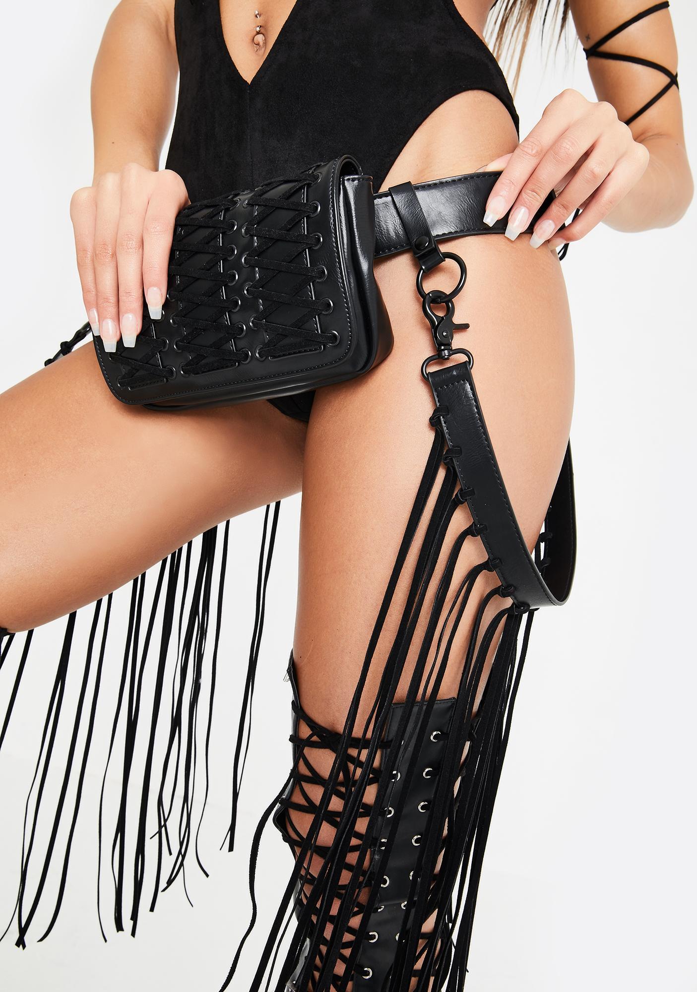 Club Exx Dancehall Diva Fringe Belt Bag